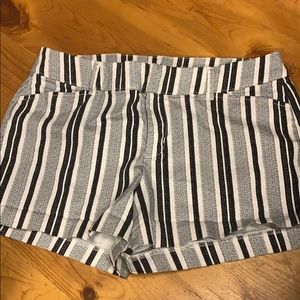 Striped old navy pixi shorts